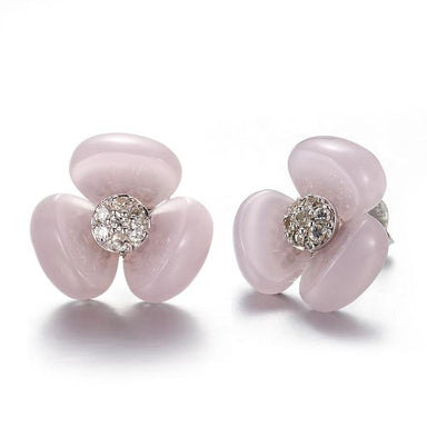 La Pensee Pink Earrings - [Yes She May]