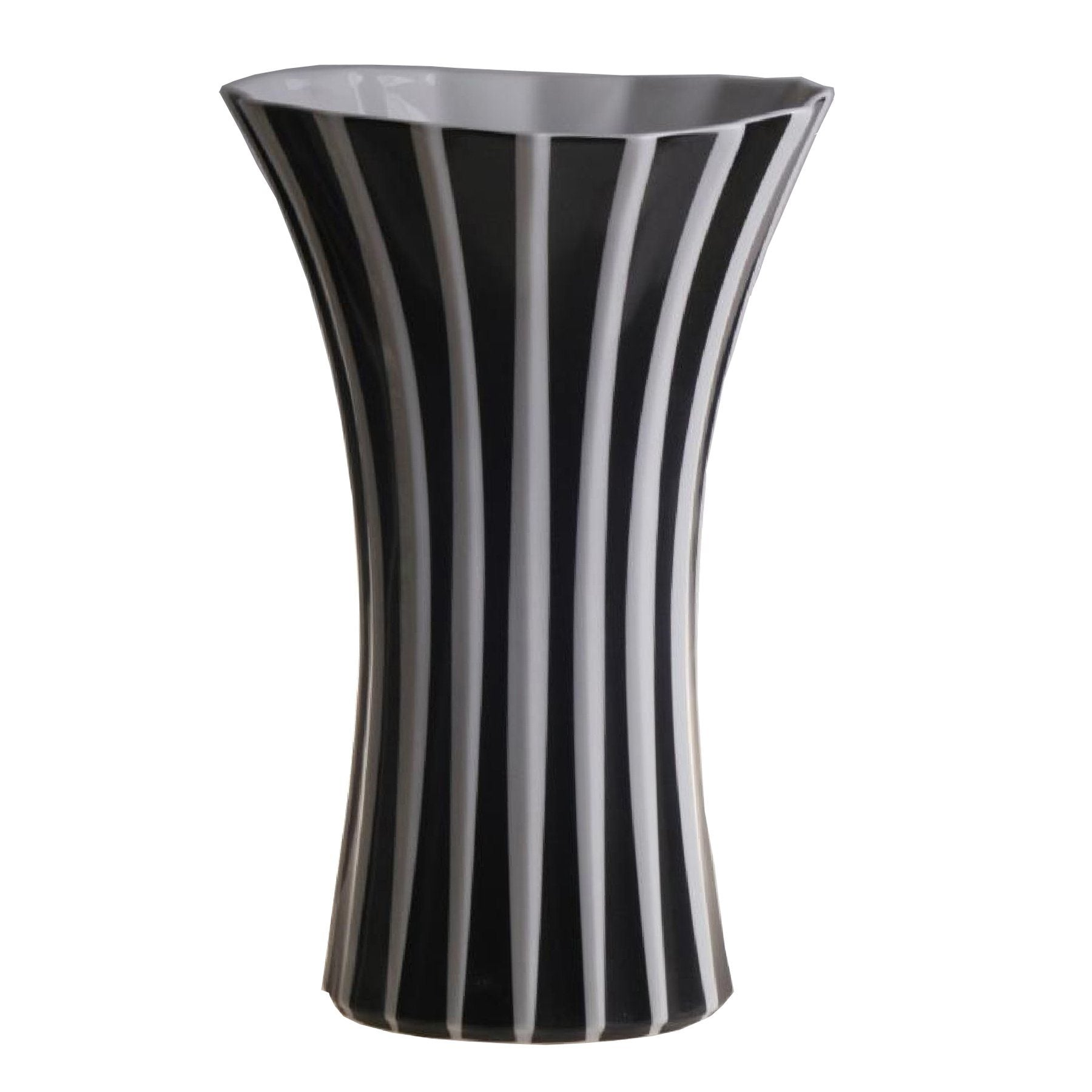 White Stripe Porcelain Flower Vase