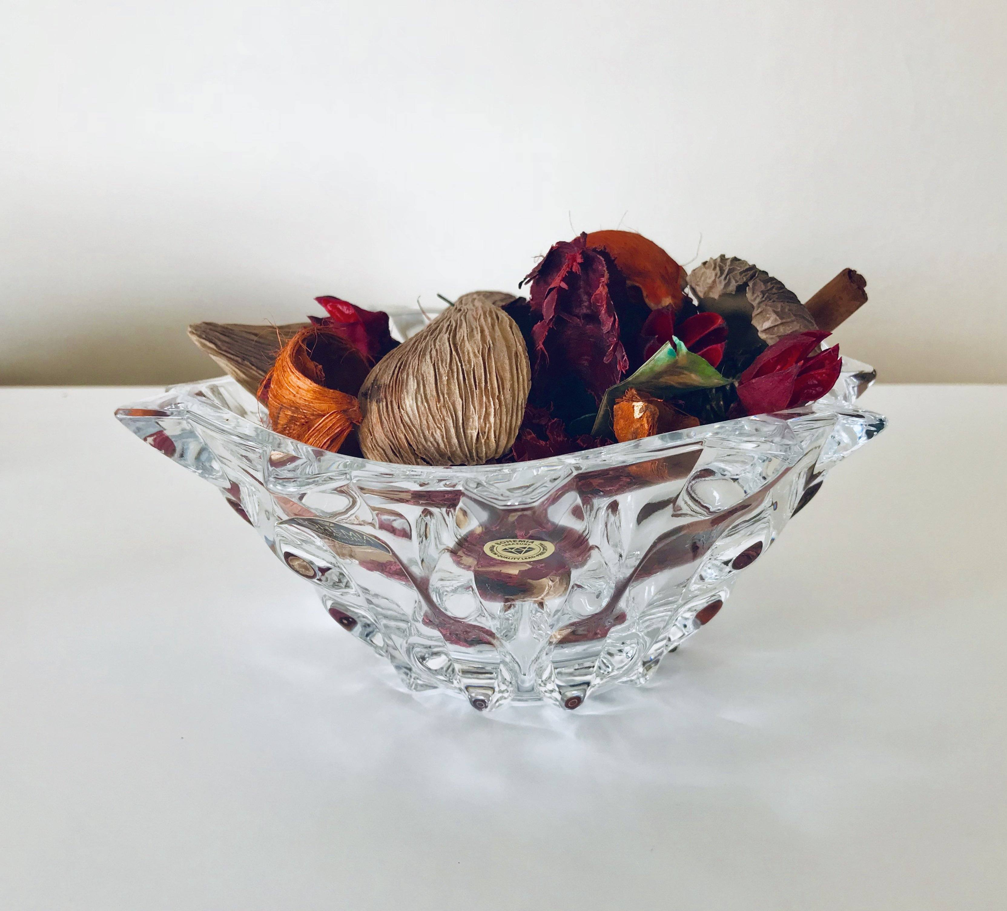'Samba' Clear Crystal Bowl with Lid