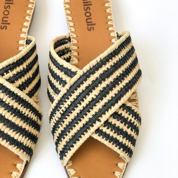 Madison Raffia Sandals - [Yes She May]