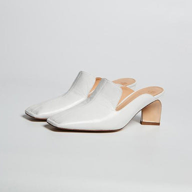 Square-Toe Heeled Mules