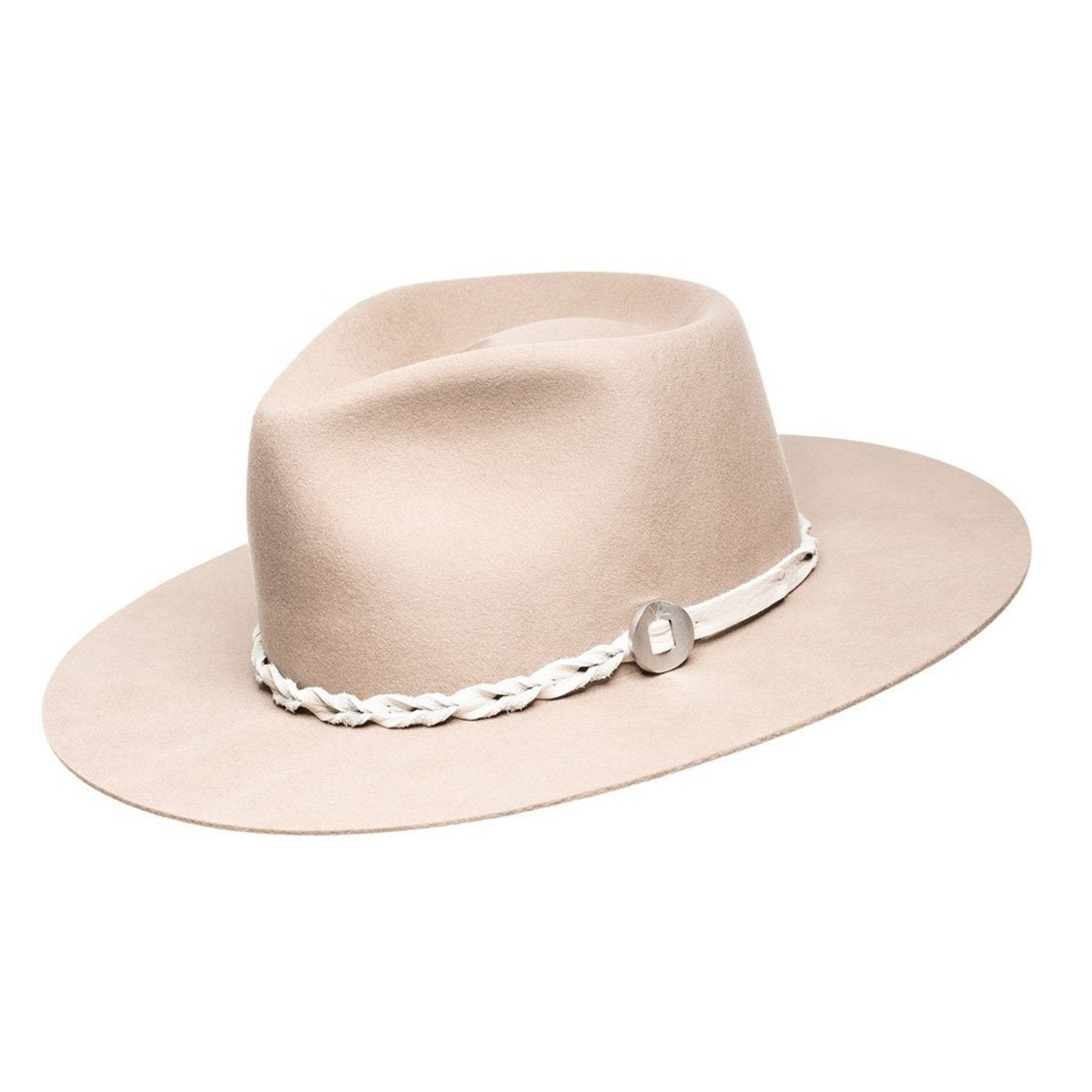 Finn Wide Stiff Brim Hat - Tan Mist