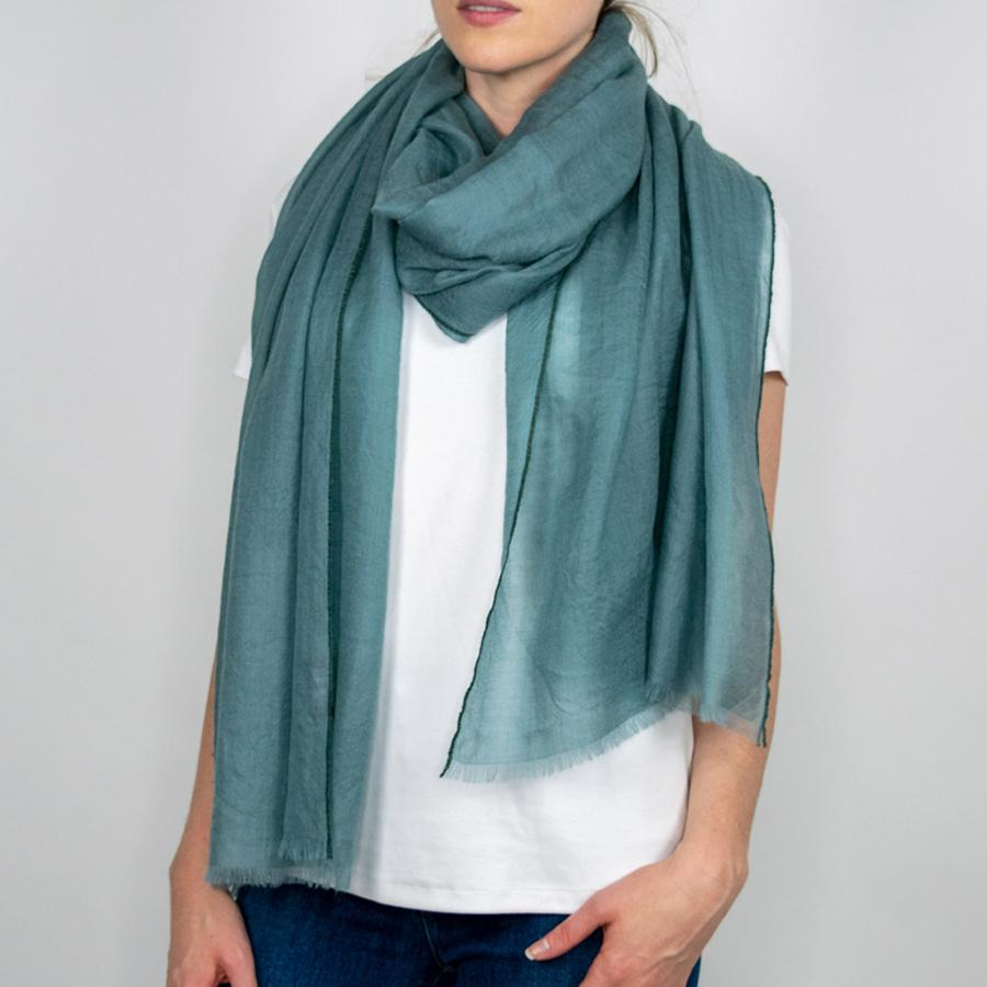 Cashmere Scarf in Teal
