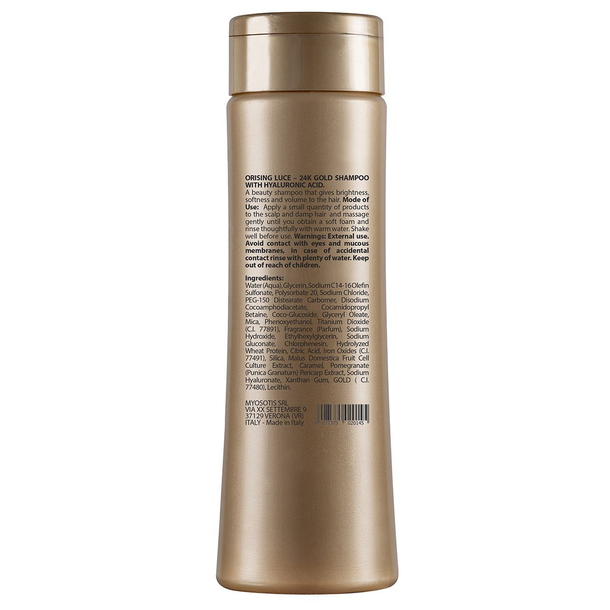24K Gold Shampoo with Hyaluronic Acid