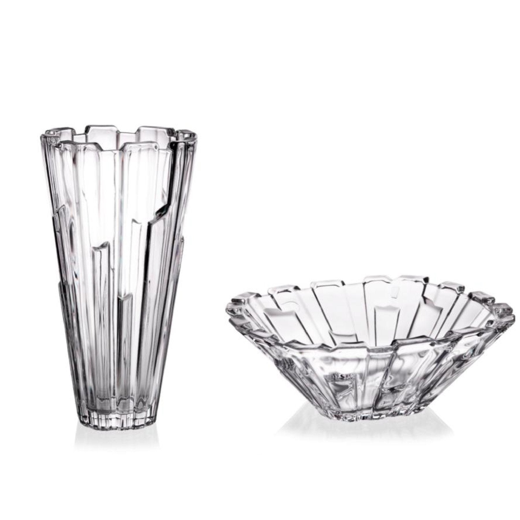 'Piano' Crystal Gift Set of 2 - White