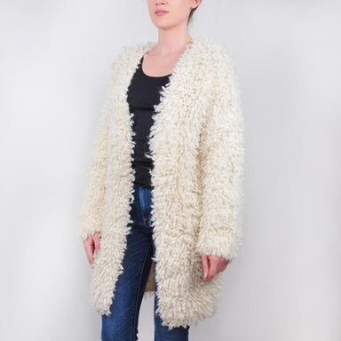 'Medusa' Alpaca Shaggy Cardigan Sweater