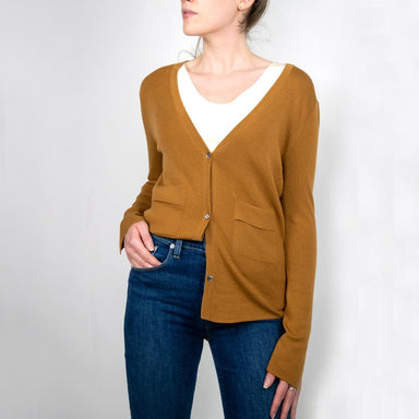 Wool V-Neck Cardigan Sweater