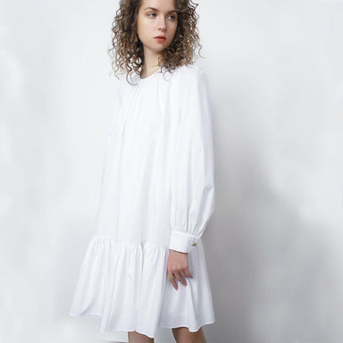 'Cady' Drop Waist Cotton-Poplin Shift Dress