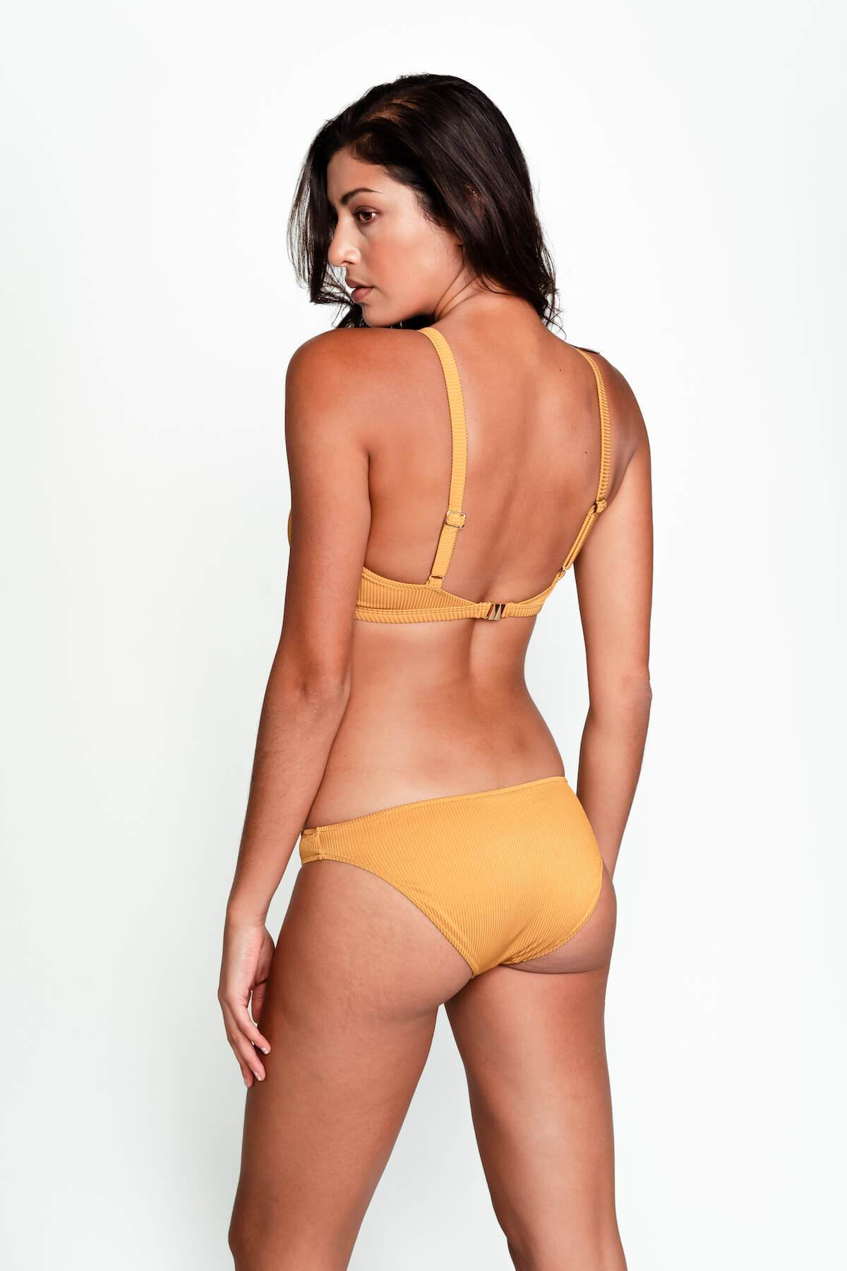 Jenna Hipster Bottom - Ribbed Gold
