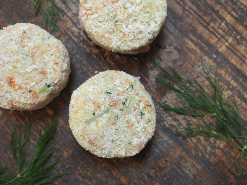 Frozen Wild Smoked Coho Cakes (pack of 3)