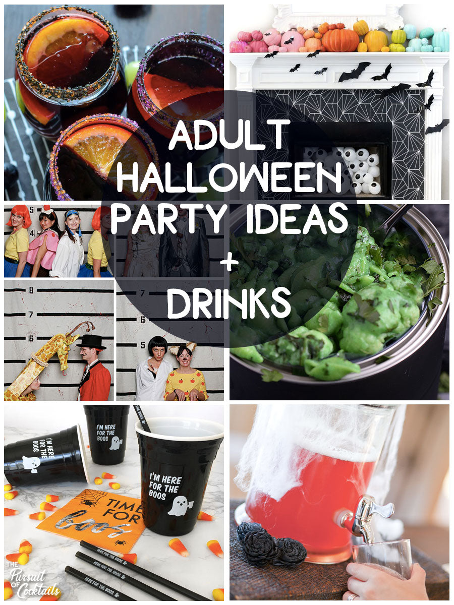 Adult Halloween party ideas and drinks