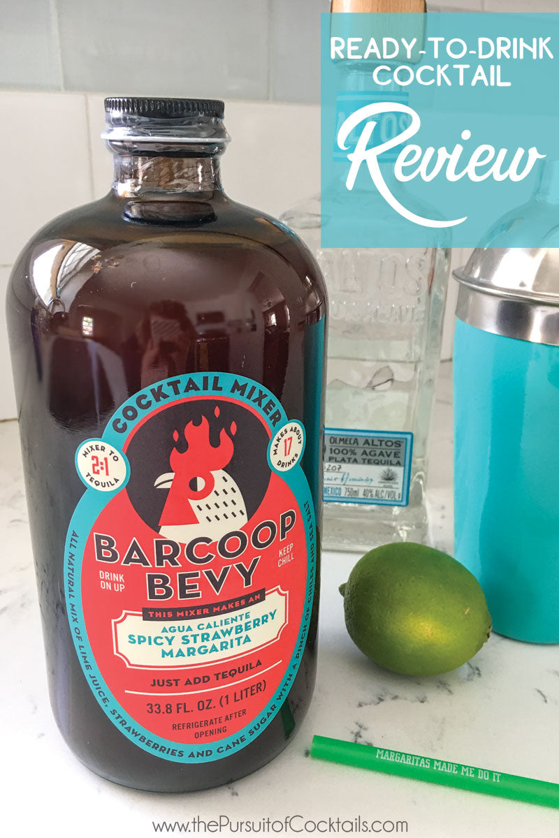 Cocktail mix review of Barcoop Bevy spicy strawberry margarita mix