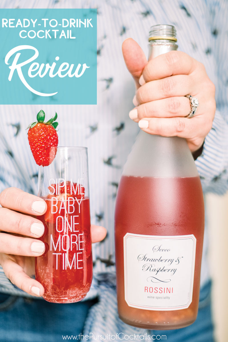 Trader Joe's Secco Strawberry and Raspberry Rossini reviewed by The Pursuit of Cocktails