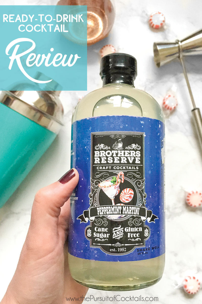 Cocktail Mix Review Brothers Reserve Peppermint Martini