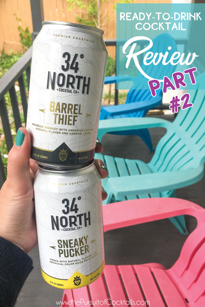 34 North Cocktail Co canned cocktail review of Barrel Thief