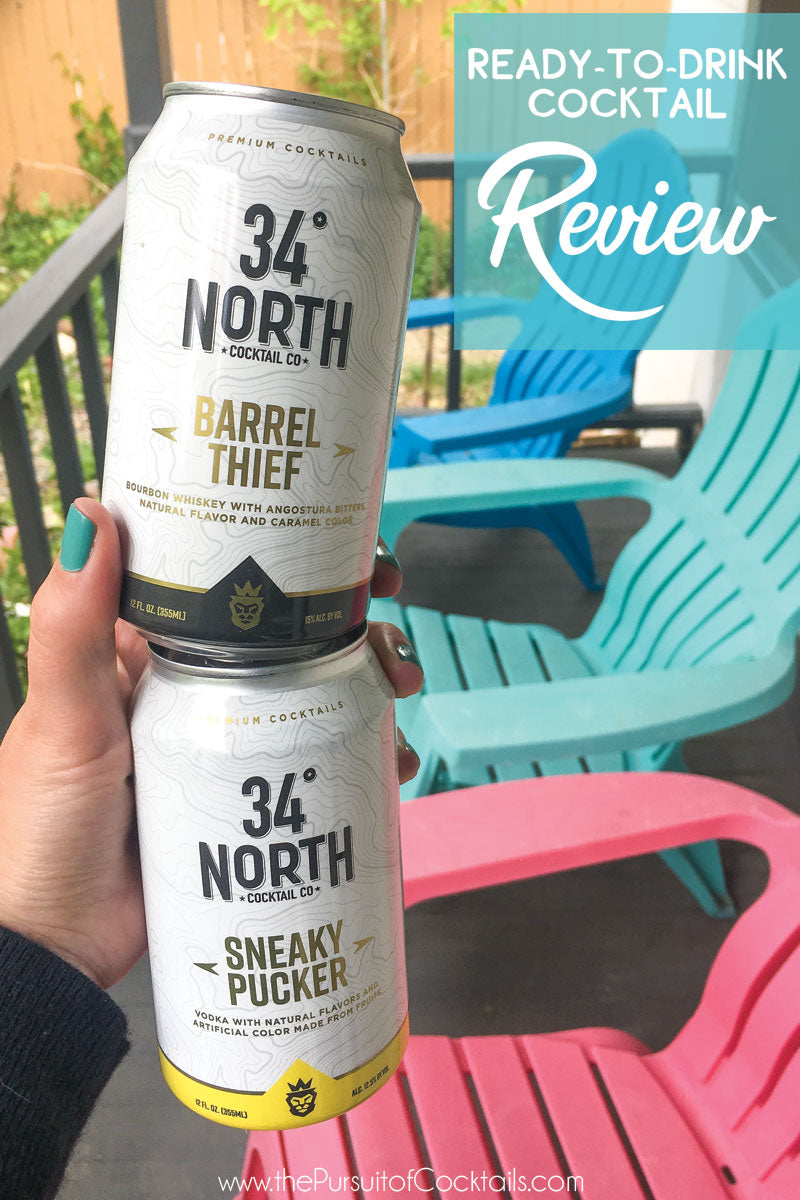 Canned cocktail review of 34 North Cocktail Co Sneaky Pucker