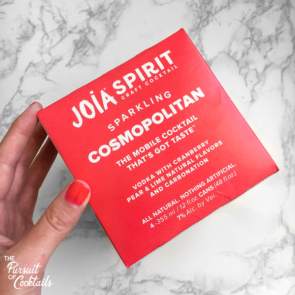 Joia Spirit Cosmopolitan pre-made cocktail review