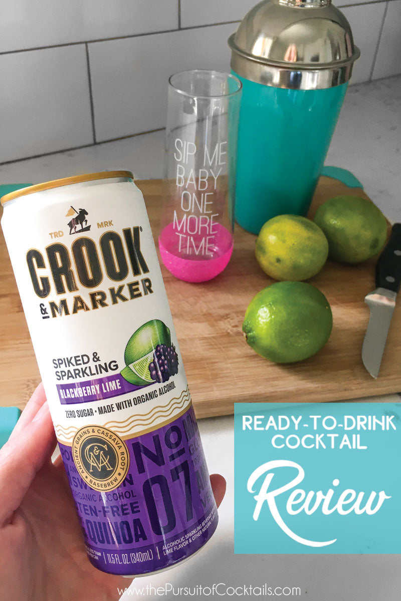 Crook & Marker canned cocktail review by The Pursuit of Cocktails