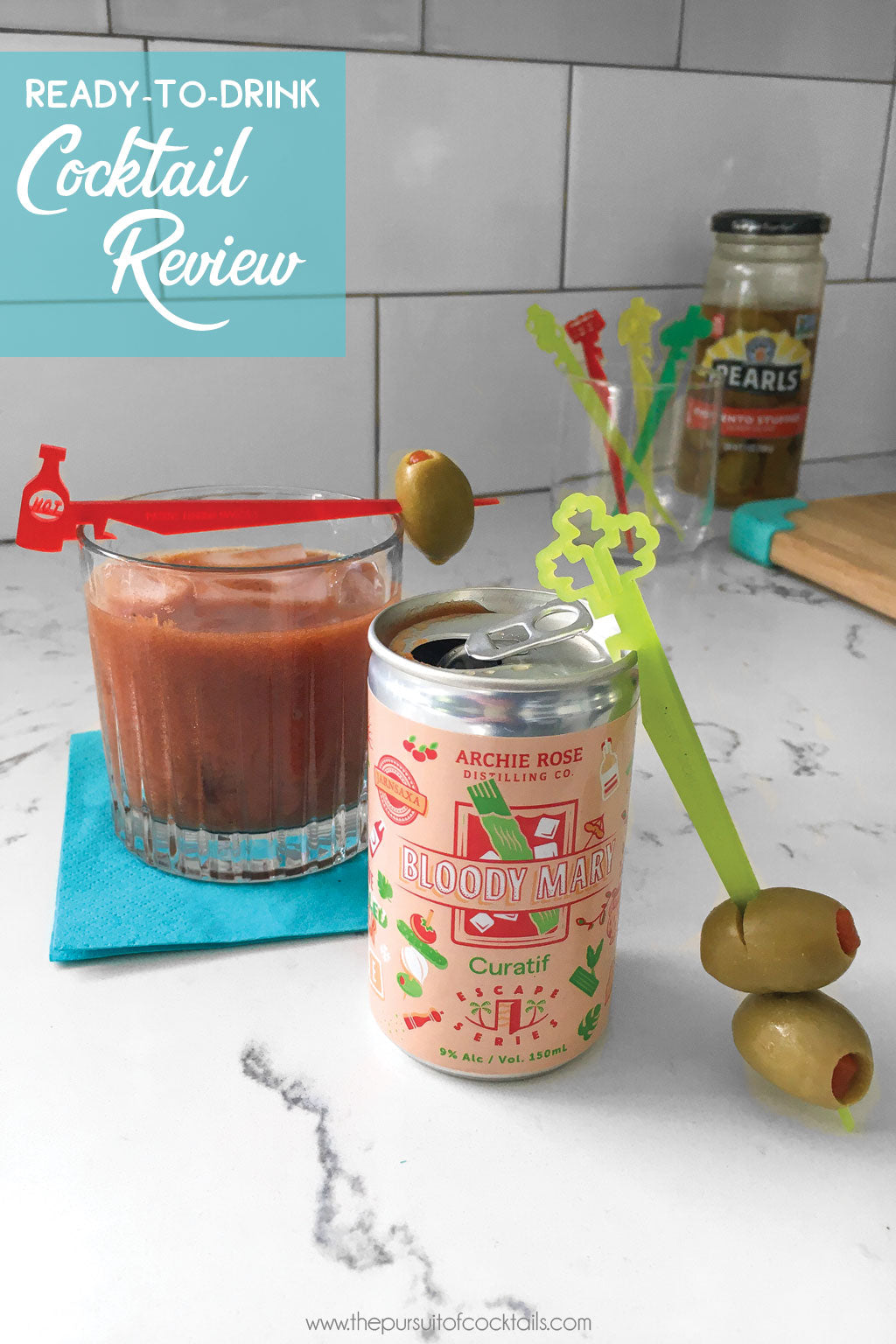 Ready-to-drink bloody mary review of Curatif Archie Rose Bloody Mary