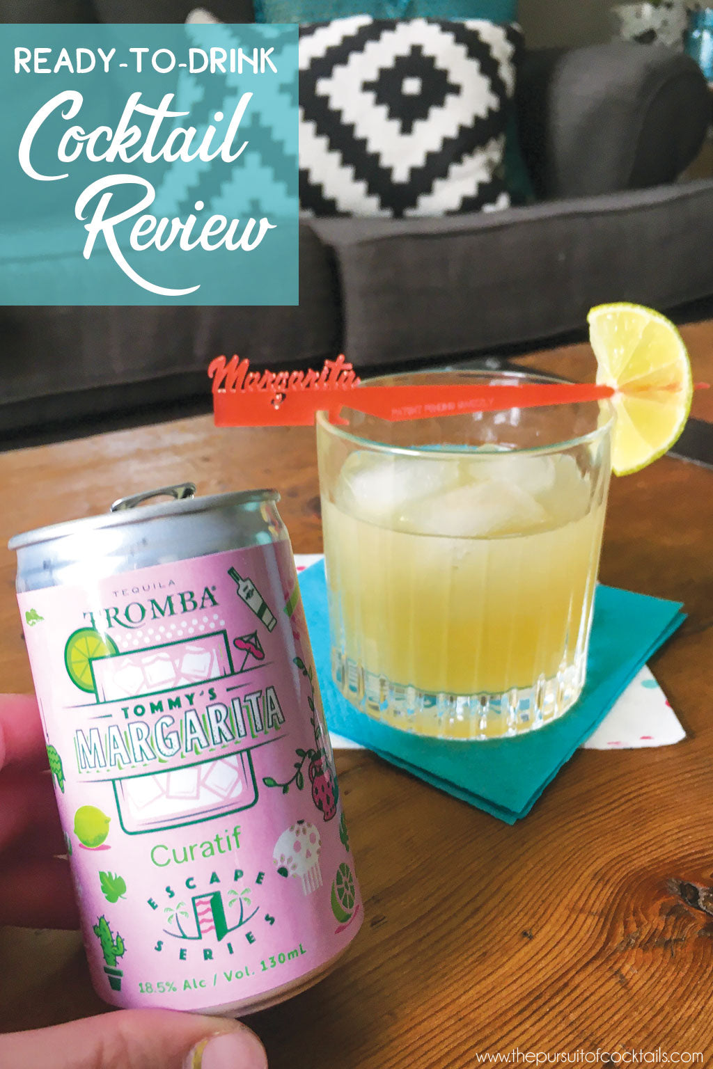 Curatif Tommy's Margarita canned cocktail review by The Pursuit of Cocktails