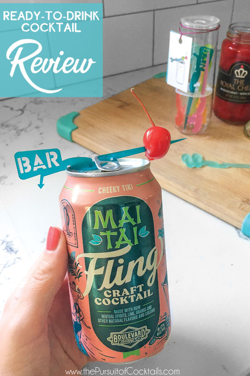 Fling canned cocktail Mai Tai reviewed by The Pursuit of Cocktails