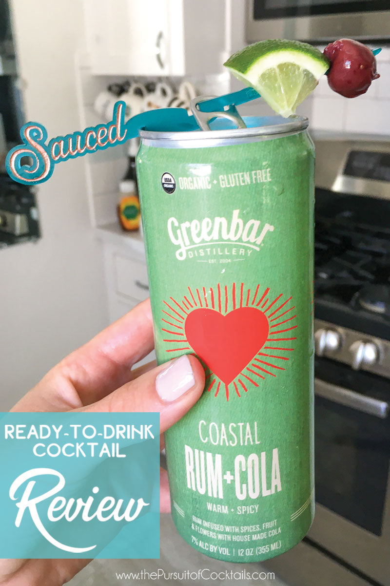 Canned cocktail review of Greenbar Distillery's Rum + Cola