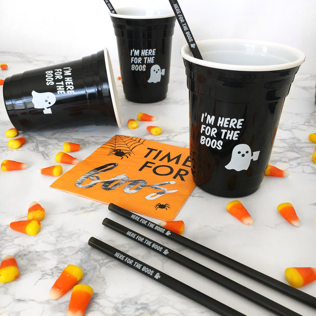 Halloween party cups and party favors