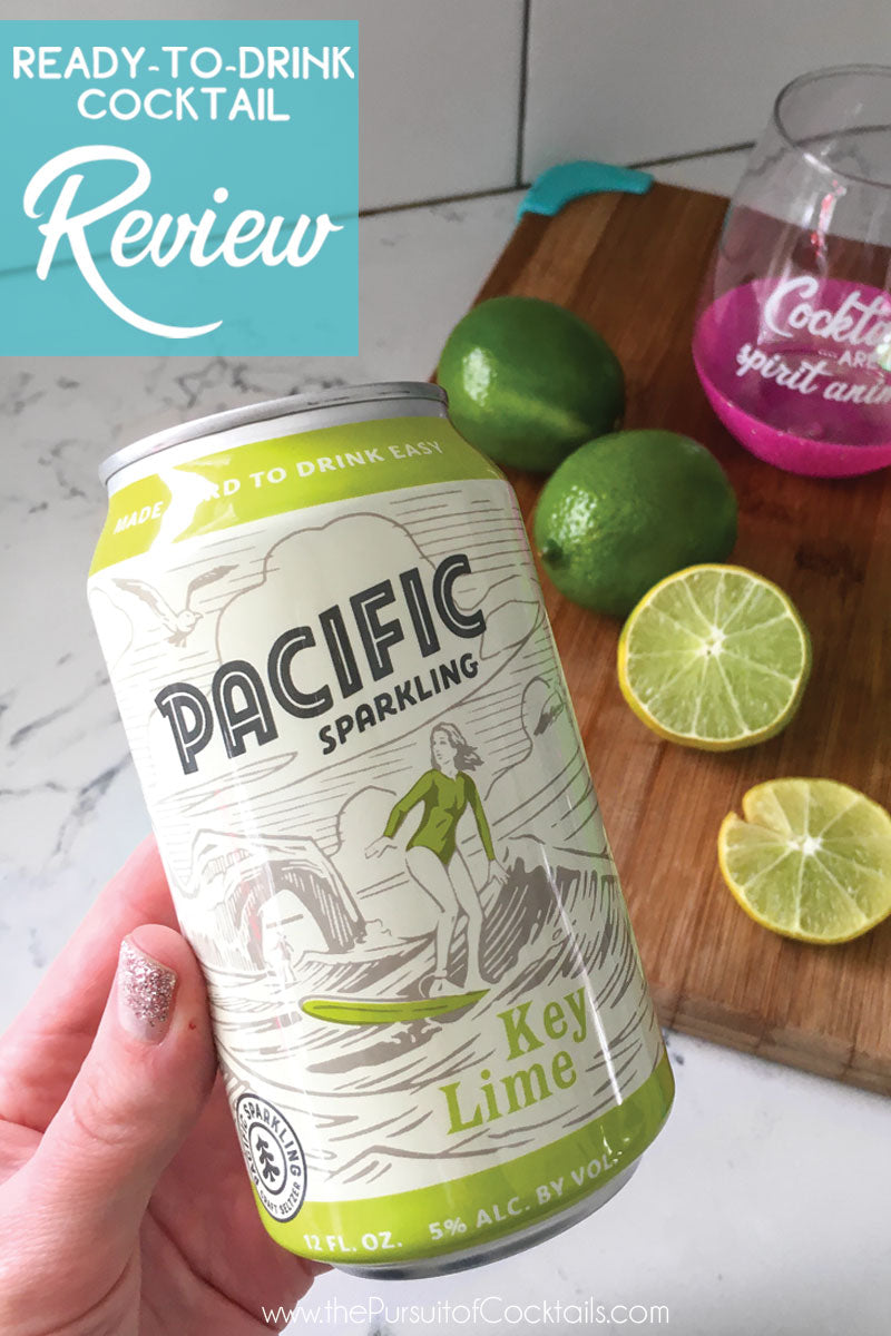 Hard seltzer review of Pacific Sparkling by The Pursuit of Cocktails