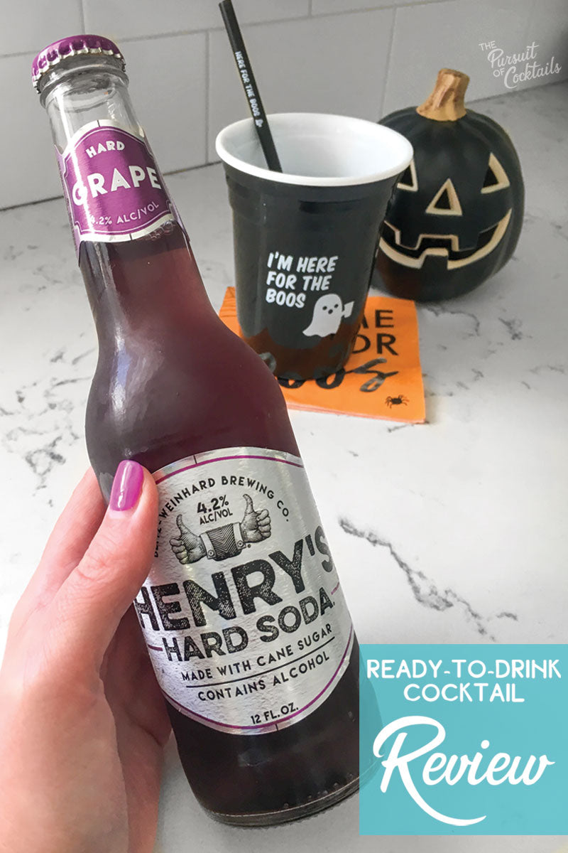 Henry's Hard Soda ready to drink cocktail review by The Pursuit of Cocktails