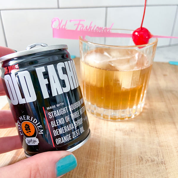 Post Meridiem canned cocktail Old Fashioned review by The Pursuit of Cocktails