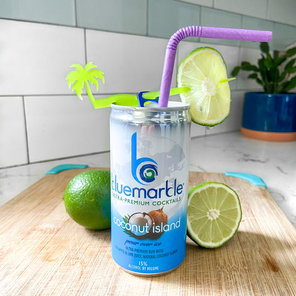 Blue Marble Coconut Island canned cocktail reviewed by The Pursuit of Cocktails