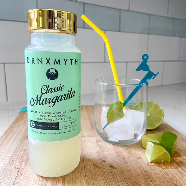 Drnxmyth Classic Margarita with Swizzly Stick and paper straw styling reviewed by The Pursuit of Cocktails