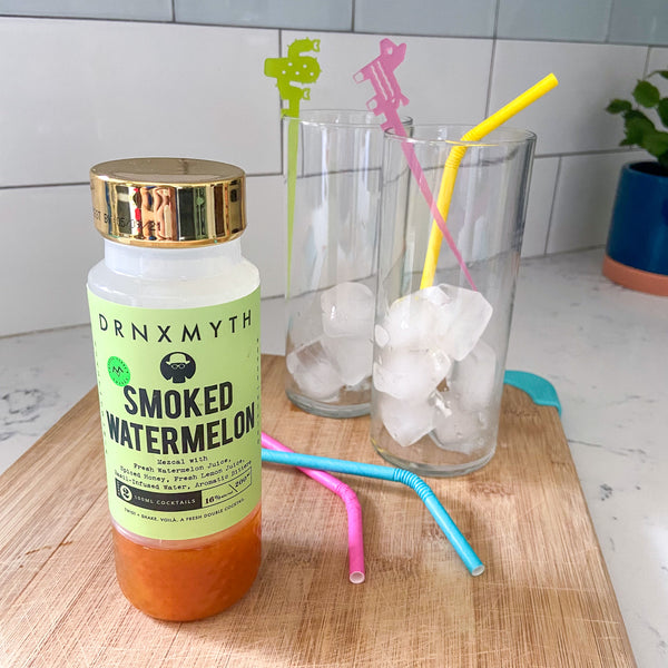 DRNXMYTH Smoked Watermelon pre-made cocktail reviewed by The Pursuit of Cocktails