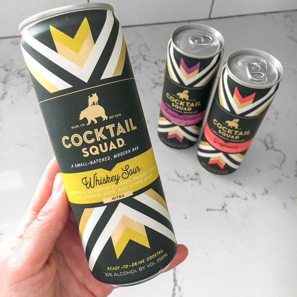 Canned cocktail Whiskey Sour from Cocktail Squad reviewed by The Pursuit of Cocktails