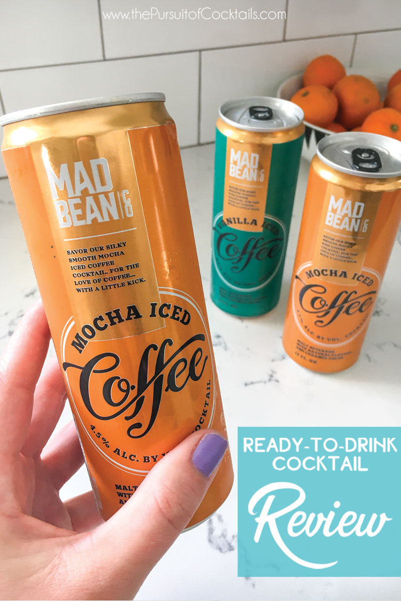 Mad Bean Co coffee canned cocktails reviewed by The Pursuit of Cocktails