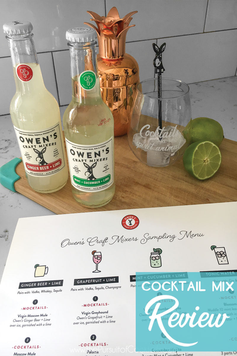 Owen's Craft Mixers review by The Pursuit of Cocktails