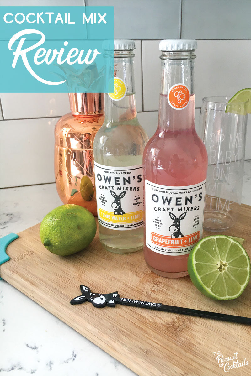 Review of Owen's Craft Mixers by The Pursuit of Cocktails