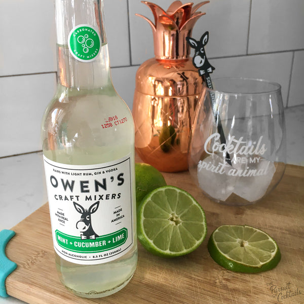 Owen's craft mixer in mint cucumber lime reviewed by The Pursuit of Cocktails