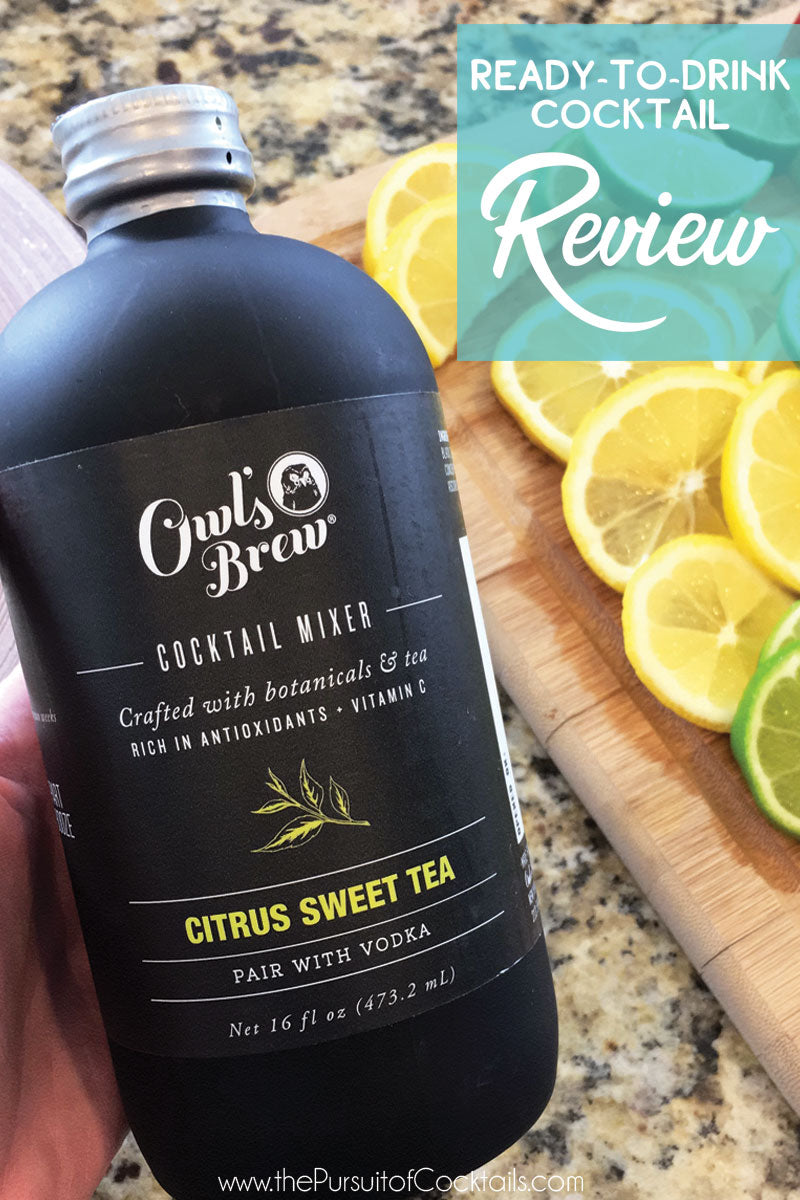 Owl's Brew cocktail mix review by The Pursuit of Cocktails