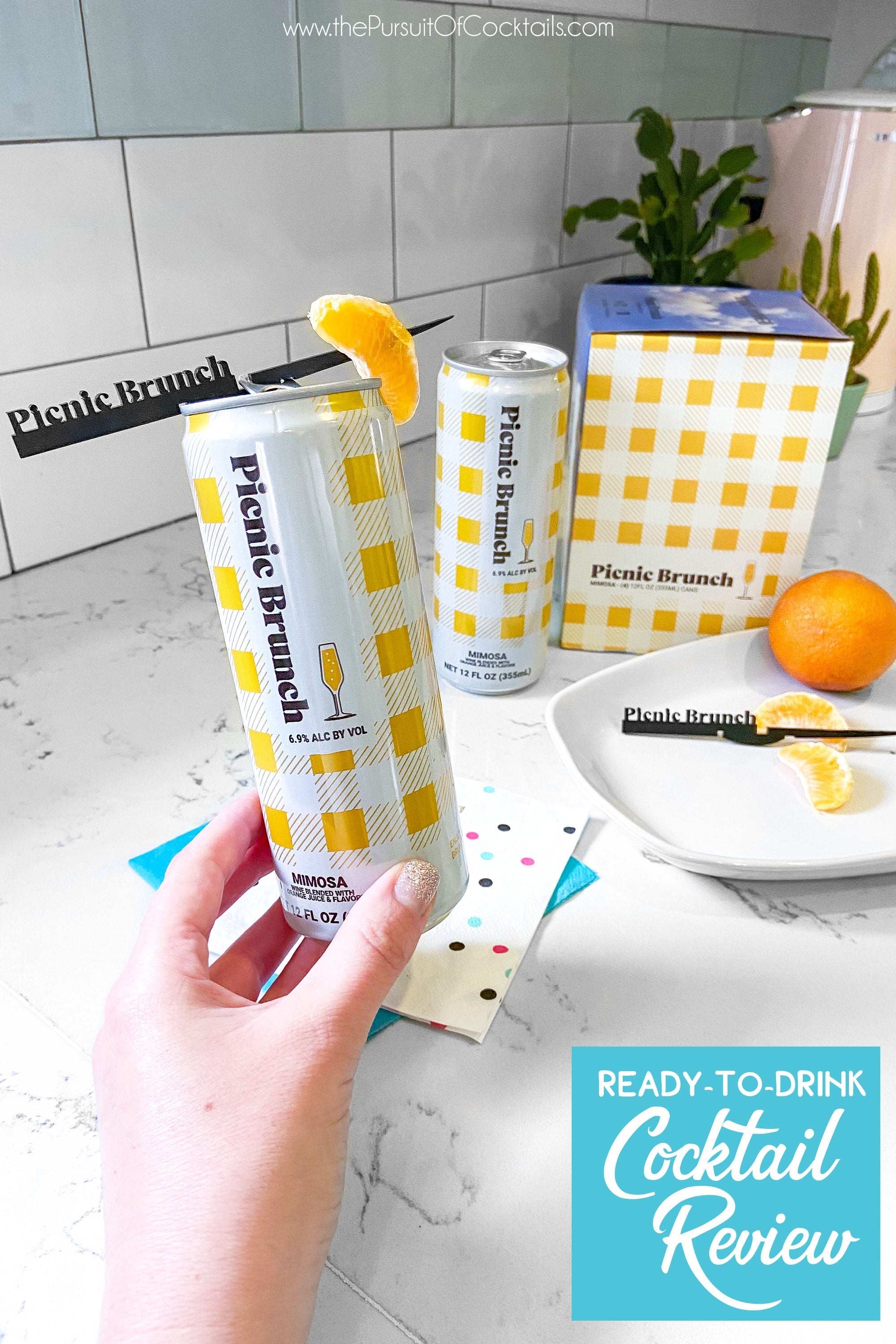 Picnic Brunch mimosa canned cocktail review by The Pursuit of Cocktails