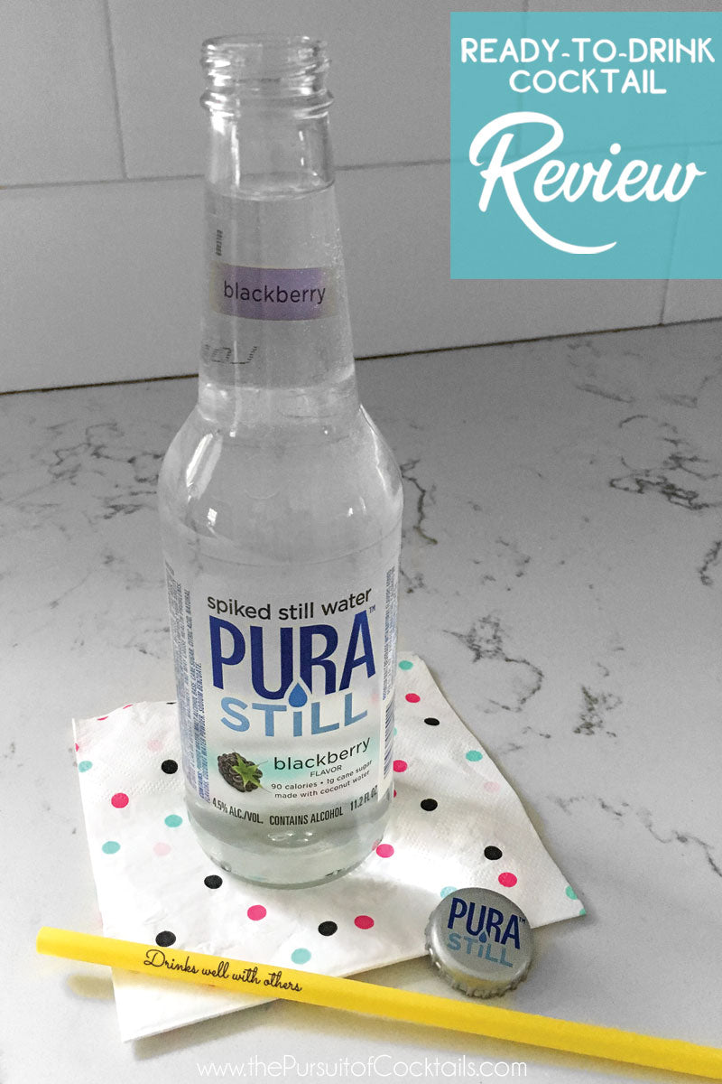 Ready-to-drink cocktail review Pura Still spiked still water