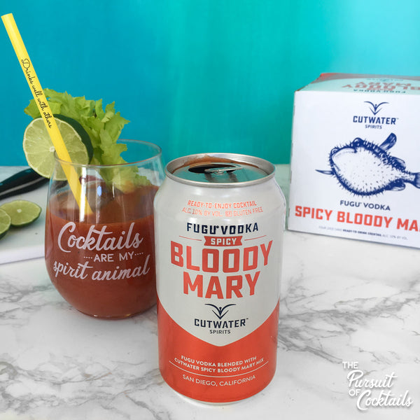 Canned cocktail review Cutwater Spirit's bloody mary
