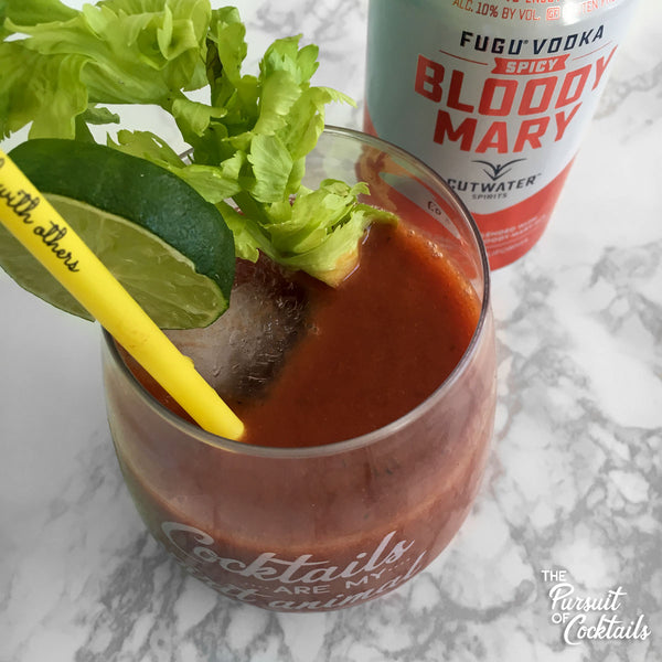 Cutwater canned cocktail bloody mary review close-up