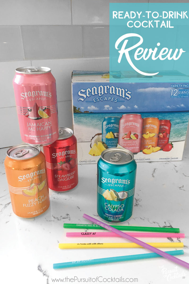 Seagram's Escapes canned cocktail reviewed by The Pursuit of Cocktails
