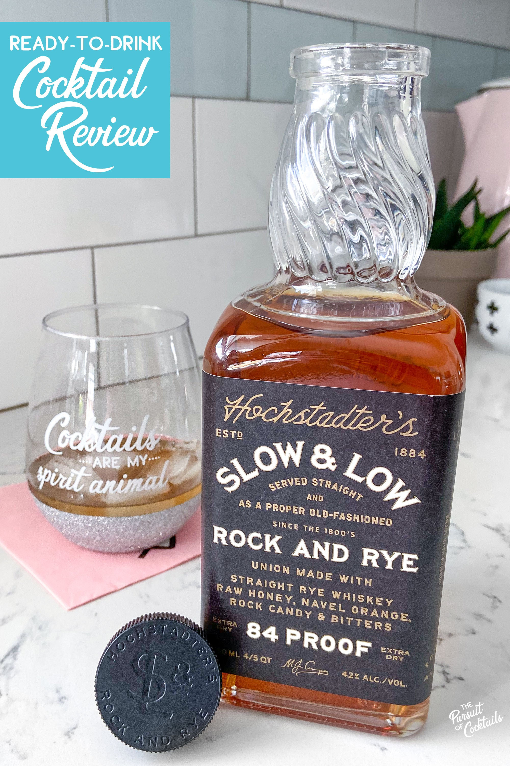 Slow and Low ready-to-drink Old Fashioned cocktail review by The Pursuit of Cocktails