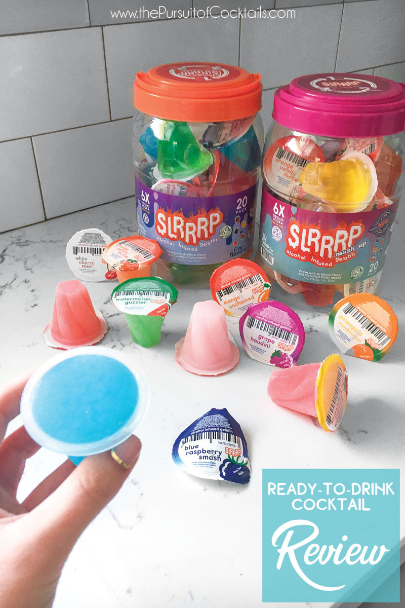 Slrrrp premade jello shots review by The Pursuit of Cocktails