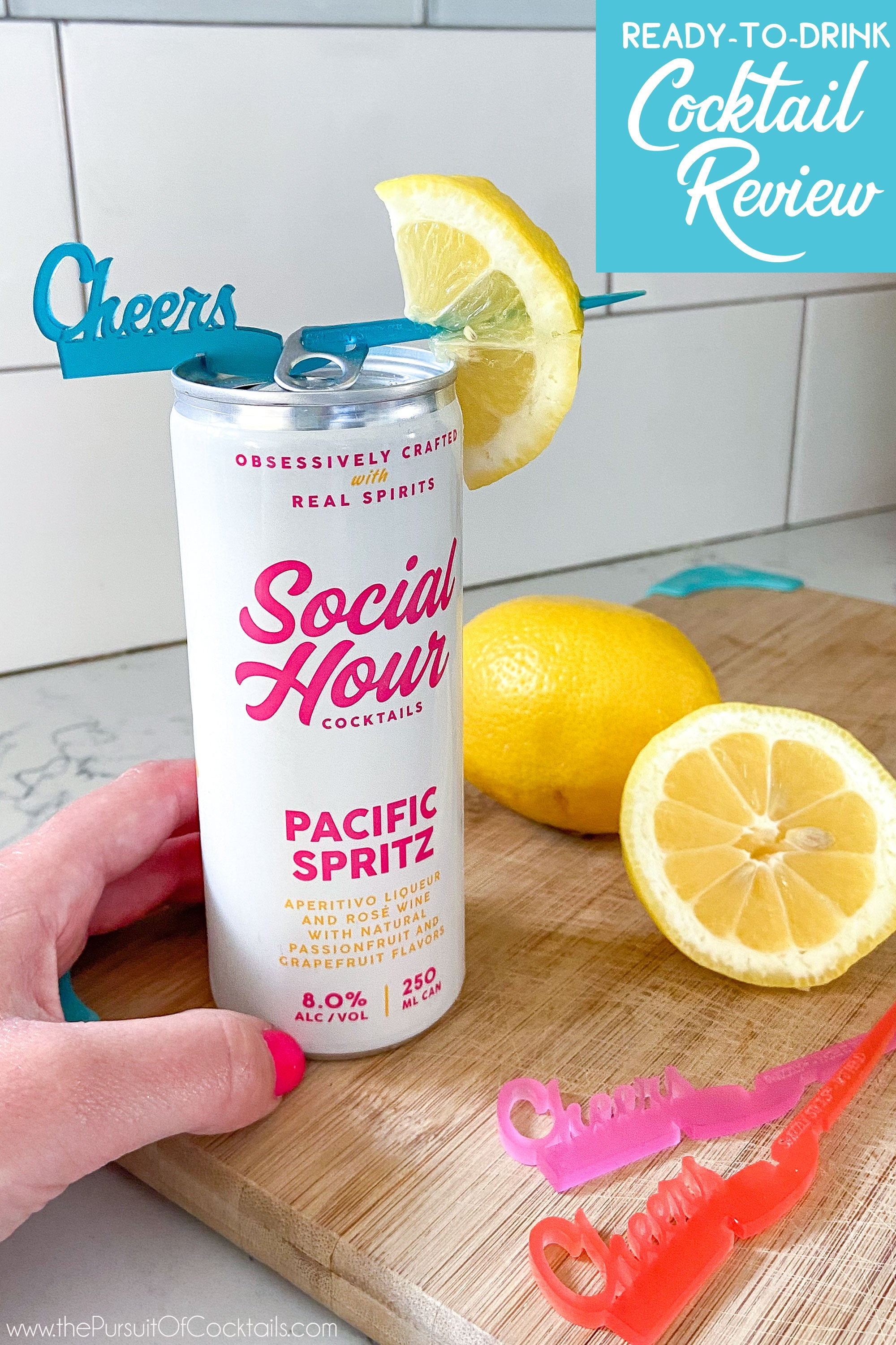 Social Hour canned cocktail review of Pacific Spritz by The Pursuit of Cocktials