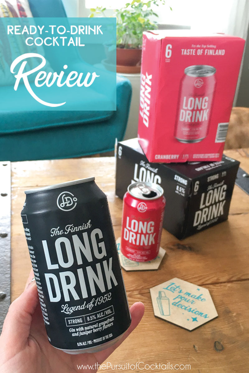 Canned cocktail review of The Long Drink in Strong & Cranberry