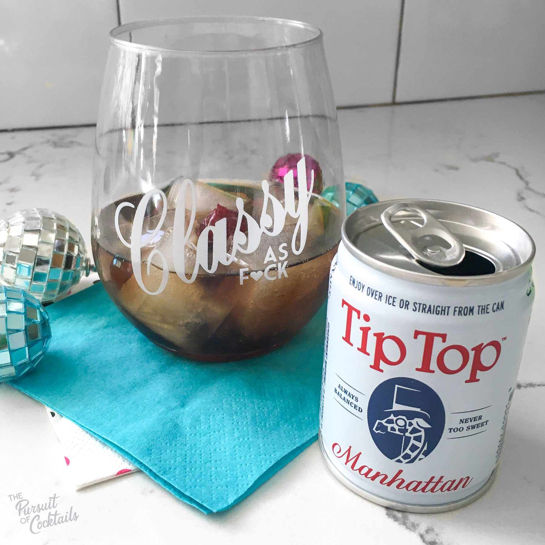 Canned cocktail review of Tip Top's Manhattan