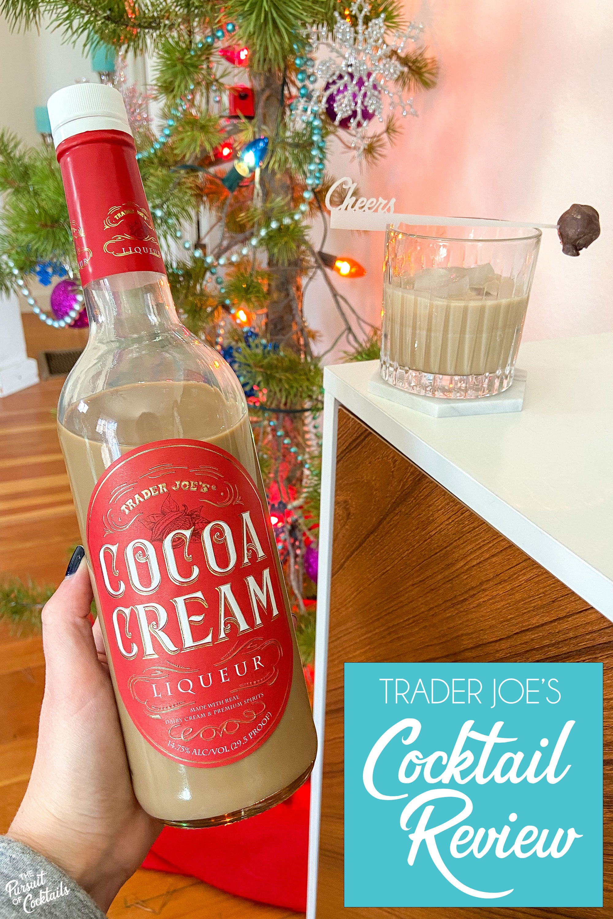 Trader Joe's Cocoa Cream liqueur review by The Pursuit of Cocktail
